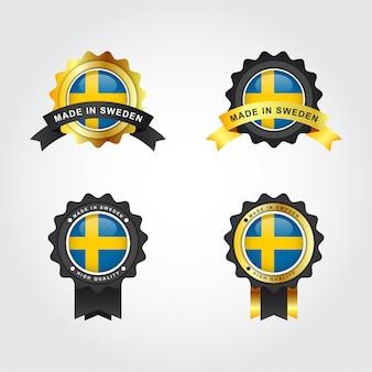 スウェーデン製のエンブレムバッジラベル