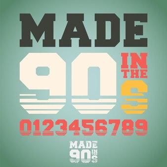 Слоган made in tne 90-х для печати на футболках