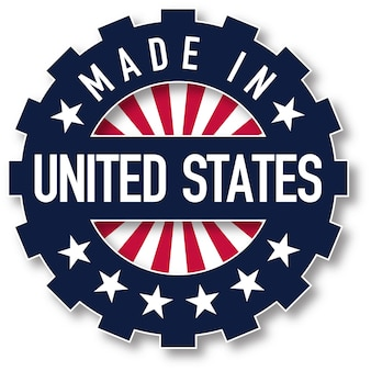 アメリカ製の国旗カラースタンプ。ベクトルイラスト