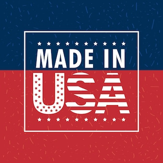 Made in usa 라벨