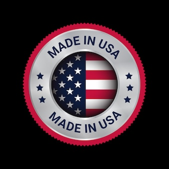 アメリカ製ベクトルロゴバッジ