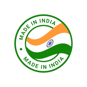 Made in india stamp sticker vector logo badge