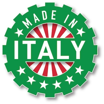 Made in italy flag color stamp. vector illustration