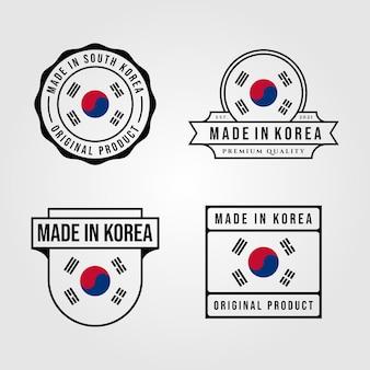 Made in korea logo set