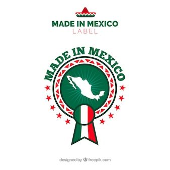 Made in mexico label