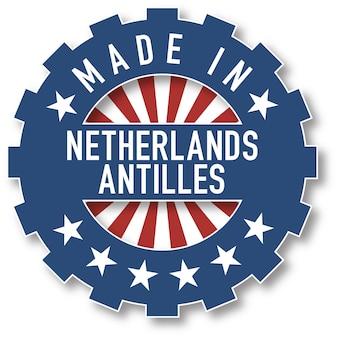 Made in netherlands antilles flag color stamp. vector illustration
