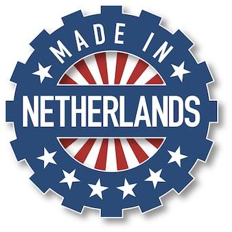 Made in netherlands flag color stamp. vector illustration