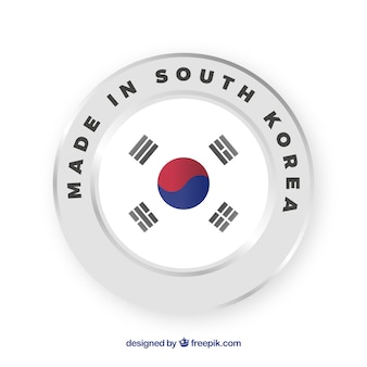 Made in south korea label