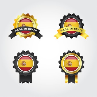 Made in spain label illustration template