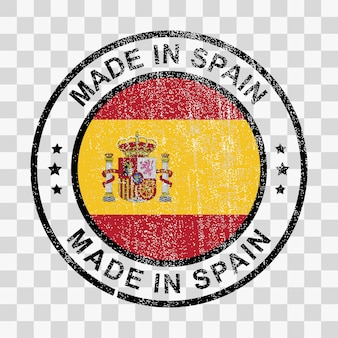 Made in spain stamp in grunge style