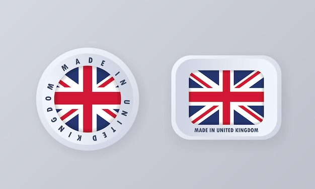Made in united kingdom illustration