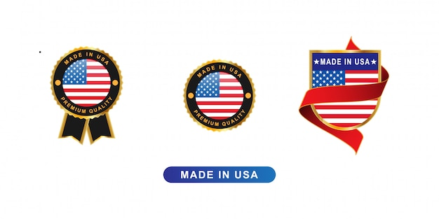 Made in usa bagde and emblem