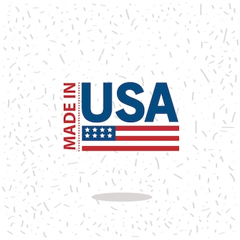 Made in usa tag icon