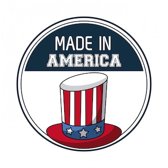 Made in usa uncle sam hat vector illustration graphic design