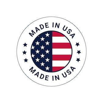 Made in usa  vector logo badge