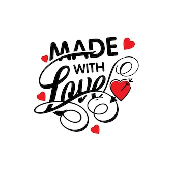 Made with love typographic