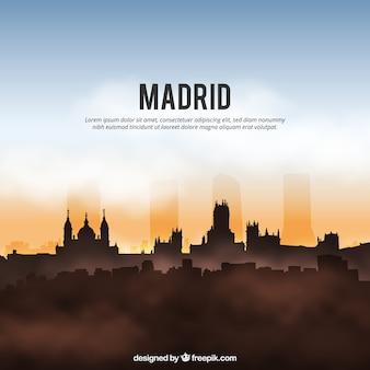 マドリードのスカイラインの背景