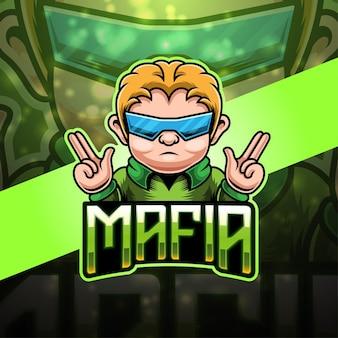 Дизайн логотипа талисмана мафии киберспорт