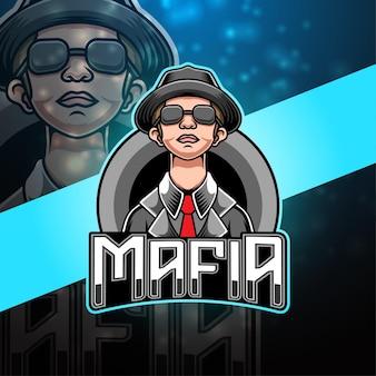 마피아 esport 마스코트 로고 디자인