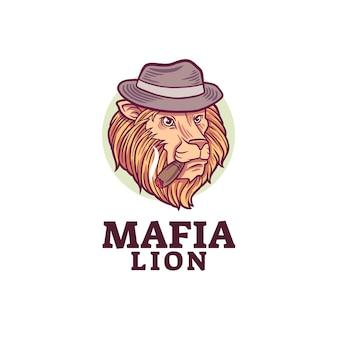 マフィアのライオンのマスコットのロゴ
