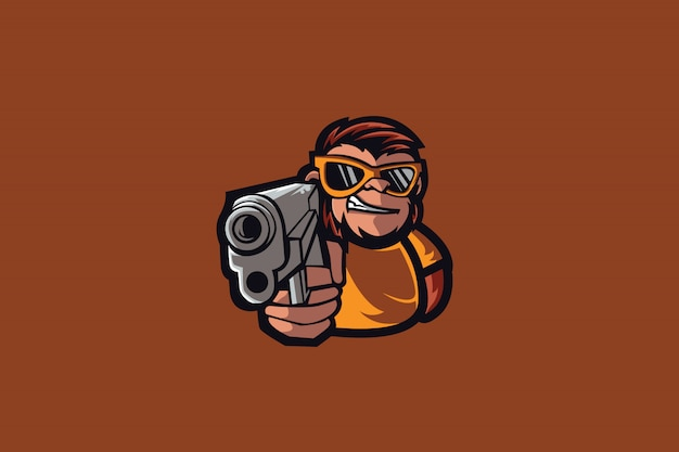 Mafia monkey e sports logo