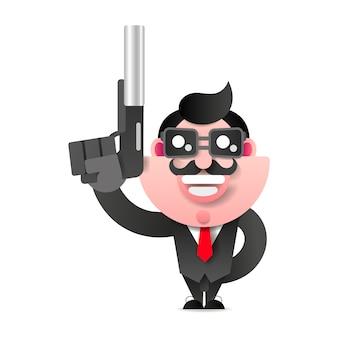 Mafioso with gun.
