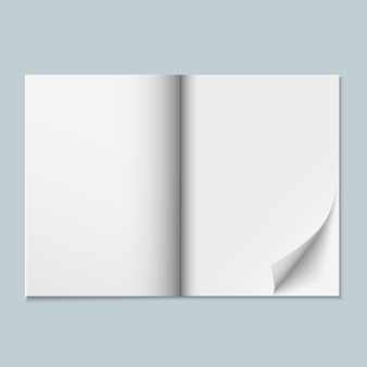 Magazine, catalog or dossier with blank pages