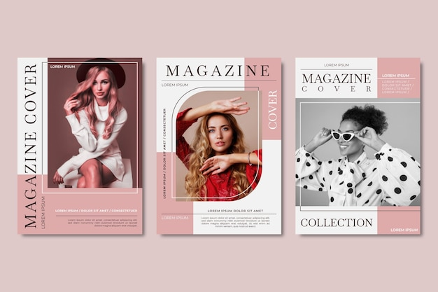 Коллекция обложек журнала с фото