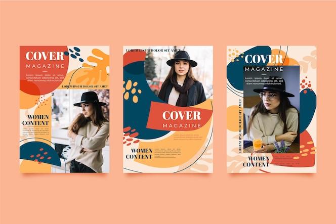 Magazine cover set with photo