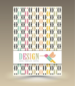 Обложка журнала с птицей вектор.
