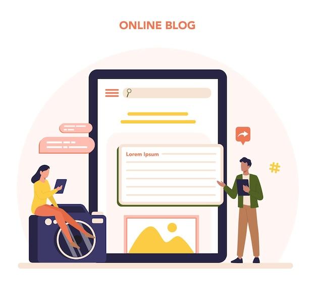 잡지 편집자 온라인 서비스 또는 플랫폼