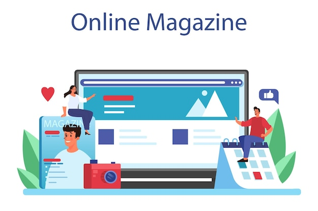 Magazine editor online service or platform