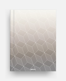 Magazine template with cover of halftone geometric background. notebook template cover for background. vector illustration.