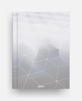 Шаблон журнала с крышкой геометрического фона полутонов. обложка шаблона ноутбука для фона. векторная иллюстрация.
