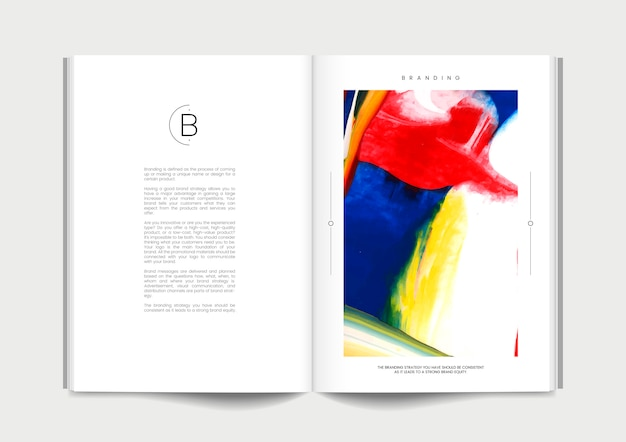 Magazine with branding ideas