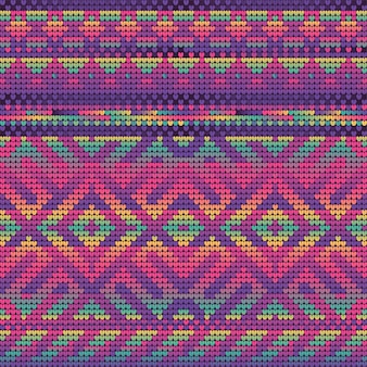 Magenta gradient colors seamless pattern of christmas knitting