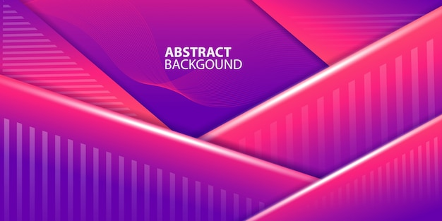Magenta gradient triangle shapes background
