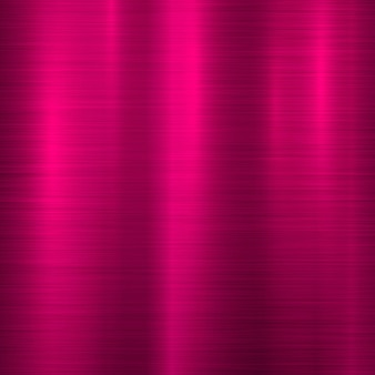 Magenta metal background with polished brushed texture chrome silver steel aluminum Premium Vector