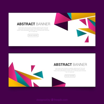 Magenta Triangle banners