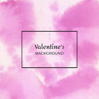 마젠타 발렌타인 수채화 추상적 인 배경