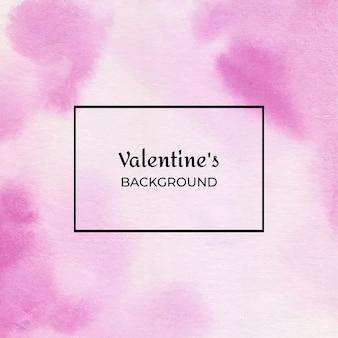 마젠타 발렌타인 수채화 추상 질감 배경