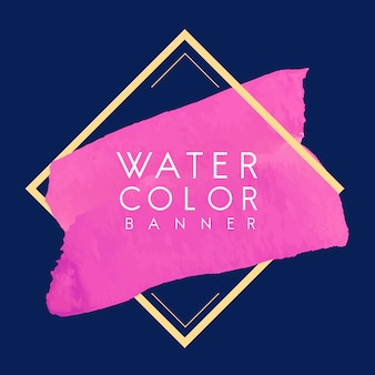 Magenta watercolor banner design vector