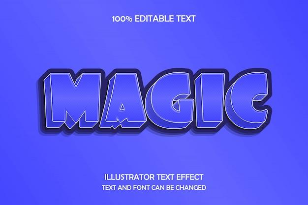 Magic,3d editable text effect modern shadow cartoon style