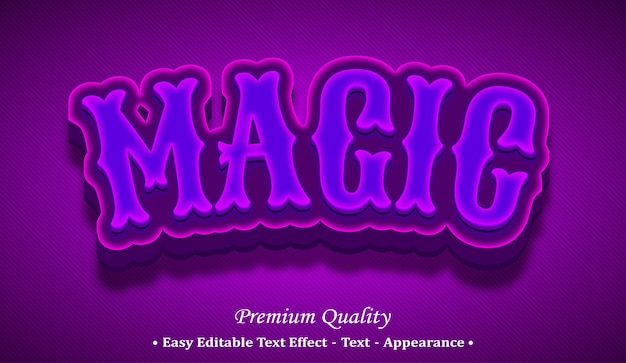 Magic 3d editable text style effect