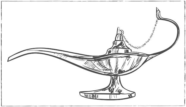 Magic arabic lamp for holy month of muslim community