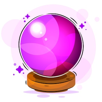 Magic ball illustration suitable