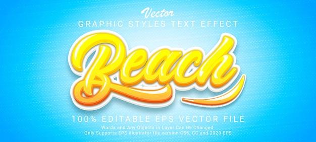 Magic beach text style effect