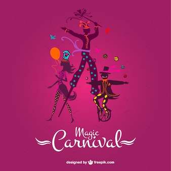 Magic carnival on a pink background