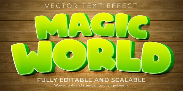Magic cartoon text effect, editable comic and funny text style
