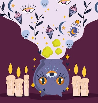 Magic cauldron spell